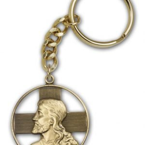 Antique Gold Christ Keychain