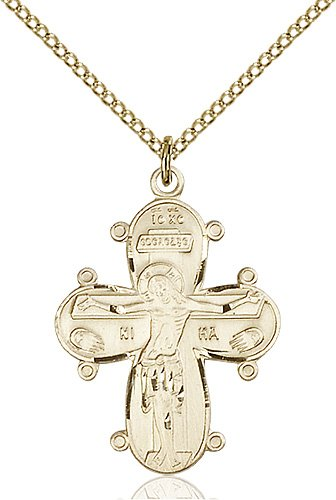 Gold Filled Christine Cross Necklace #86985
