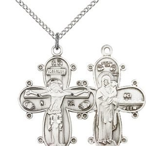 Sterling Silver Christine Cross Necklace #86988