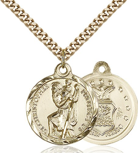 14kt Gold Filled St. Christopher Pendant