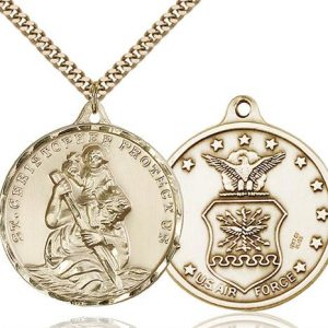 St. Christopher Air Force Pendant - Gold Filled (#89728)