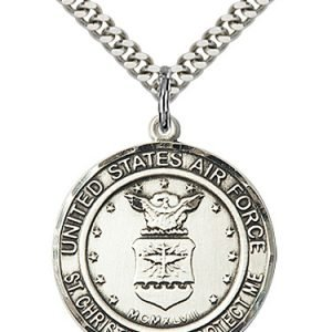 Sterling Silver Air Force - St. Christopher Pendant