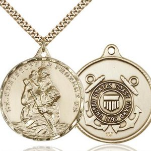 St. Christopher Coast Guard Pendant - Gold Filled (#89730)