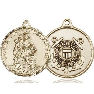 St. Christopher Coast Guard Pendant - 14 KT Gold (#89736)