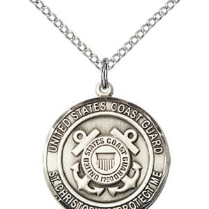 Sterling Silver Coast Guard - St. Christopher Pendant