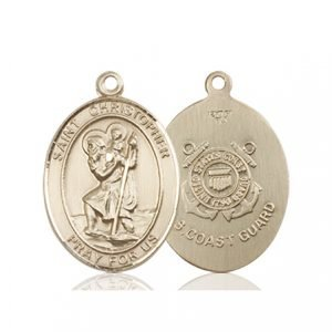 14kt Gold St. Christopher - Coast Guard Medal