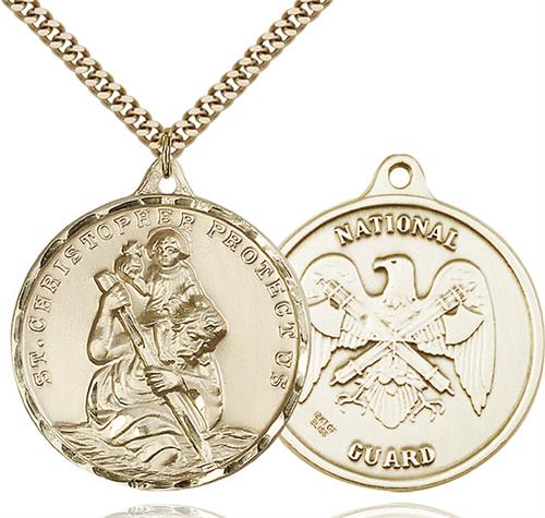 St. Christopher National Guard Pendant - Gold Filled (#89732)