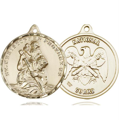 St. Christopher National Guard Pendant - 14 KT Gold (#89738)  Preview Product on Storefront