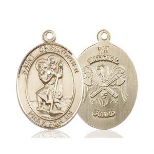 14kt Gold St. Christopher Medal