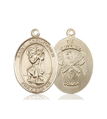 14kt Gold St. Christopher - Nat'l Guard Medal