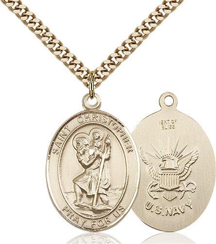 14kt Gold Filled St. Christopher Pendant