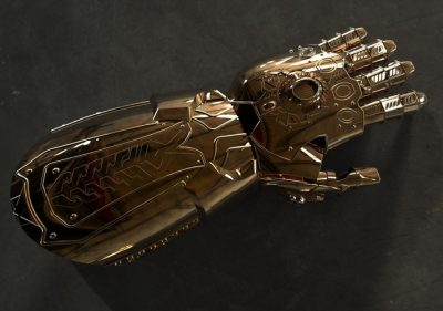 Downloadable Infinity Gauntlet source files for use on your own 3D printer.