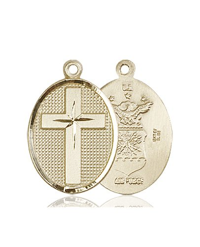 14kt Gold Cross - Air Force Medal