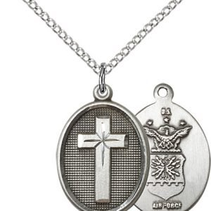 Sterling Silver Cross - Air Force Pendant