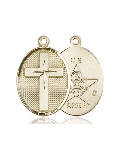 14kt Gold Cross - Army Medal