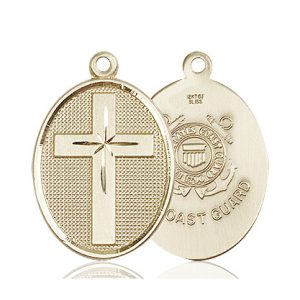 14kt Gold Cross - Coast Guard Medal