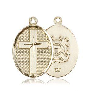 14kt Gold Cross - Coast Guard Medal