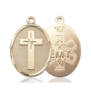 14kt Gold Cross - Emt Medal #87318