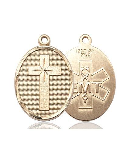 14kt Gold Cross - Emt Medal #87318
