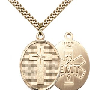 Gold Filled Cross - Emt Necklace #87314