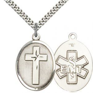 Sterling Silver Cross - Emt Necklace #87320