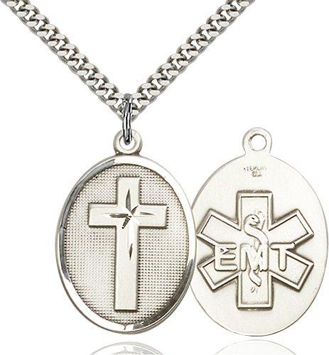 Sterling Silver Cross - Emt Necklace #87320