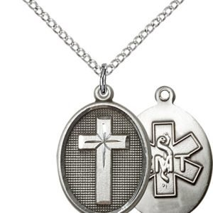 Sterling Silver Cross - Emt Necklace #87339