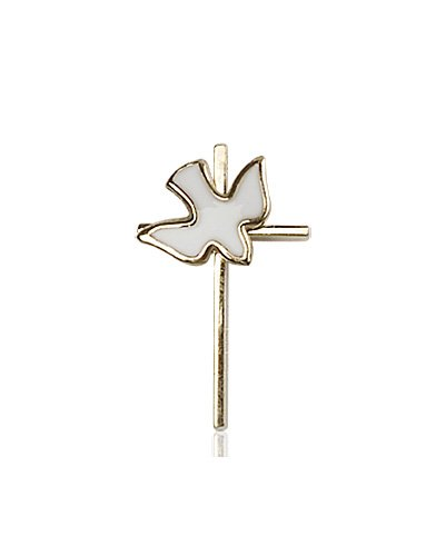 14kt Gold Cross - Holy Spirit Medal #87414