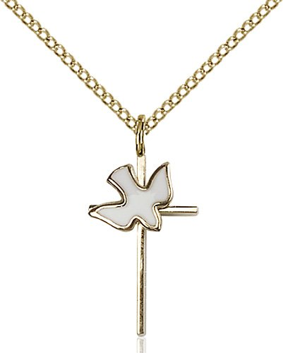 Gold Filled Cross - Holy Spirit Necklace #87412