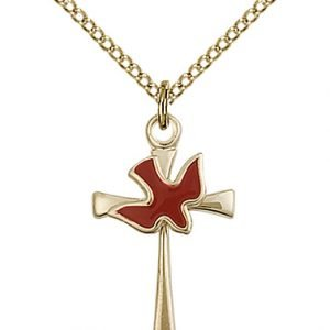 Gold Filled Cross - Holy Spirit Necklace #87640