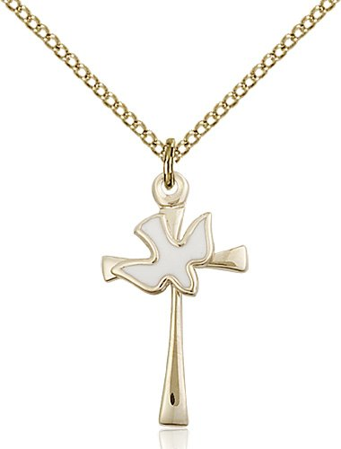 Gold Filled Cross - Holy Spirit Necklace #87644