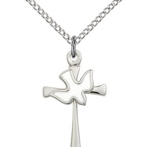 Sterling Silver Cross - Holy Spirit Necklace #87647