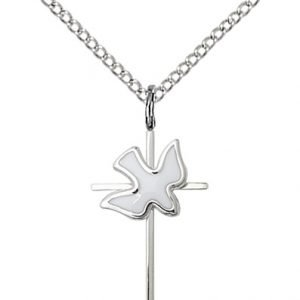 Sterling Silver Cross - Holy Spirit Necklace #87415