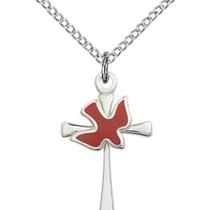 Cross & Holy Spirit Necklace