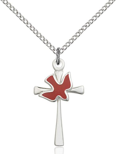 Sterling Silver Cross - Holy Spirit Necklace #87643