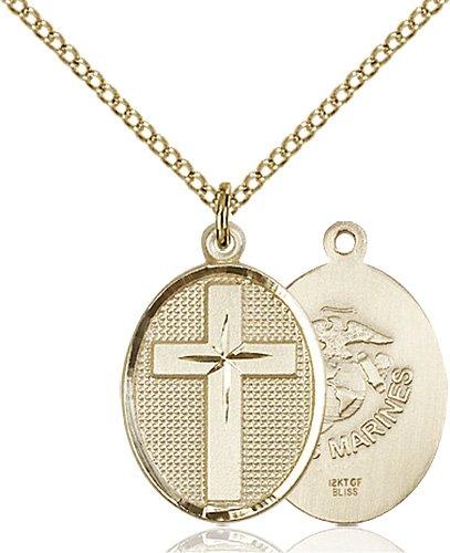 14kt Gold Filled Cross - Marines Pendant