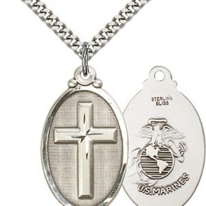 Sterling Silver Cross - Marines Pendant