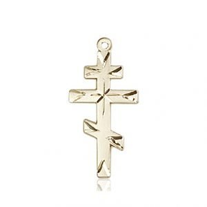14kt Gold Cross Medal #86931