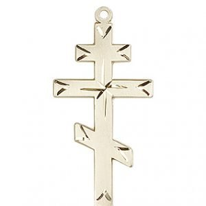 14kt Gold Cross Medal #86935