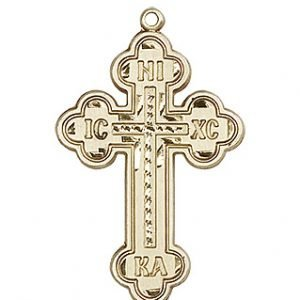 14kt Gold Cross Medal #87019