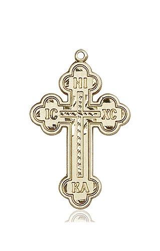 14kt Gold Cross Medal #87019