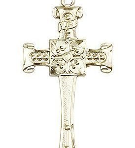 14kt Gold Cross Medal #87031