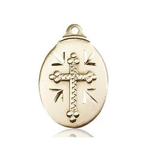 14kt Gold Cross Medal #87067