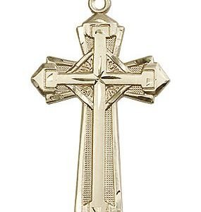 14kt Gold Cross Medal #87179