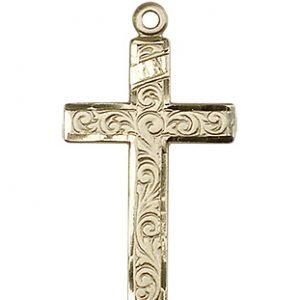 14kt Gold Cross Medal #87195