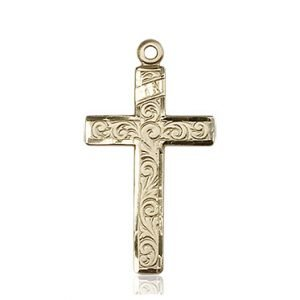 14kt Gold Cross Medal #87199