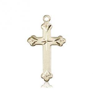 14kt Gold Cross Medal #87255