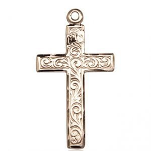 14kt Gold Cross Medal #87295