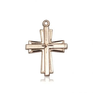 14kt Gold Cross Medal #87299
