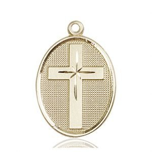 14kt Gold Cross Medal #87317